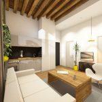 logement lyon interieur design salon avec canape blanc et mobilier en bois