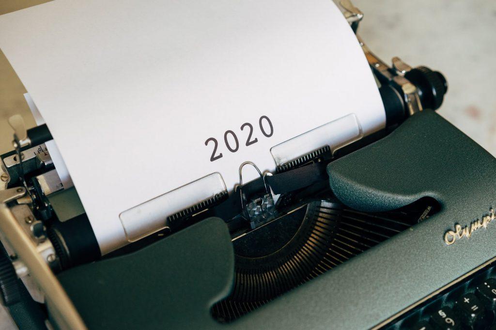bilan année 2020 machine à ecrire-min